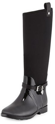 MICHAEL Michael Kors Charm Stretch Rain Boot, Black $285 thestylecure.com