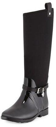 MICHAEL Michael Kors Charm Stretch Rain Boot, Black $285 thestylecure.com