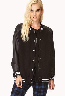Forever 21 Game Time Varsity Jacket