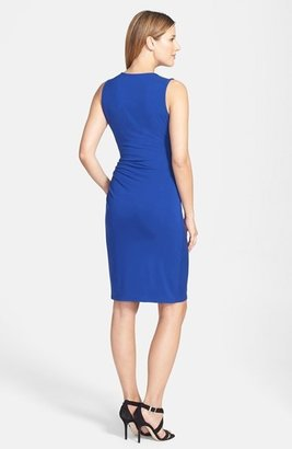 Rachel Roy Shoulder Detail Stretch Jersey Sheath Dress