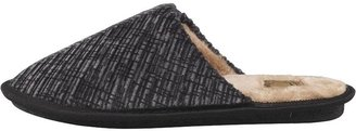 Mad Wax Mens Cord Mule Slippers Charcoal
