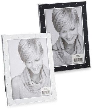 "Nicole Miller 4"" x 6"" Black Satin Enamel Frame"