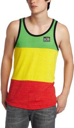Zion Rootswear Men's Bob Marley Patch Tank Top Multi Small
