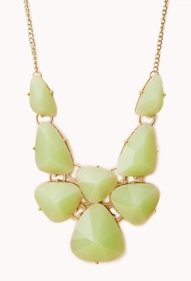 Forever 21 statement faux gemstone bib necklace