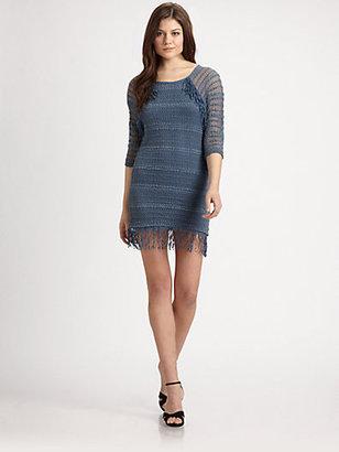 Nightcap Clothing Fringe Lace Raglan Dress