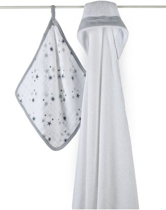 Aden Anais aden + anais 100% Cotton Muslin Hooded Towel & Washcloth Set