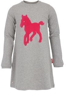Tapete Grey and Pink Pony Dress
