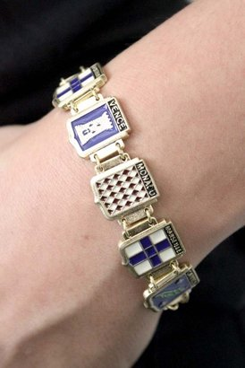Wildfox Couture Jewelry Coat of Arms Bracelet in Gold