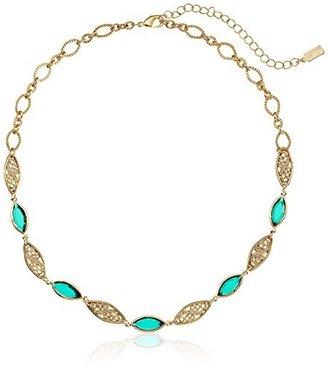 "1928 Jewelry Gold-Tone Green Genuine Swarovski Crystal Filigree Adjustable Strand Necklace, 16"" $36 thestylecure.com"