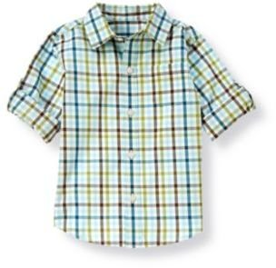 Janie and Jack Plaid Roll Cuff Shirt