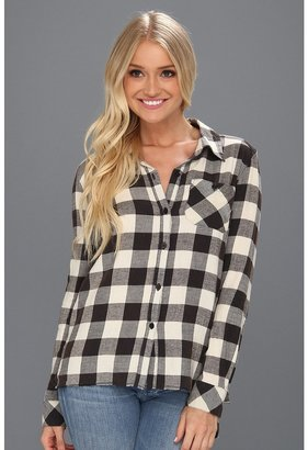 Billabong Need For Luv L/S Button Down (Off Black) - Apparel