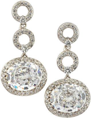 FANTASIA Oval Drop Earrings