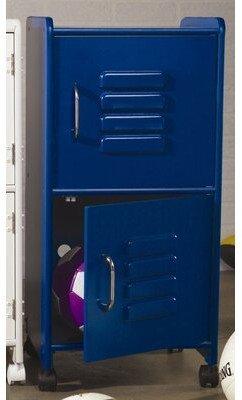 Kid Kraft 2 Tier 1 Wide Home Locker Color: Blue