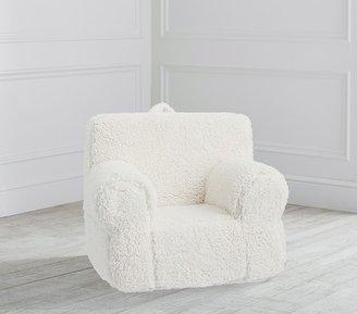 Pottery Barn Kids My First Cream Sherpa Anywhere Chair