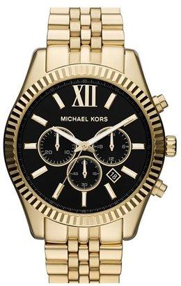 MICHAEL Michael Kors Michael Kors 'Large Lexington' Chronograph Bracelet Watch, 45mm $275 thestylecure.com