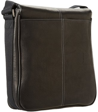 Kenneth Cole Reaction Columbian Leather Vertical Flapover Tablet Case Messenger Bags