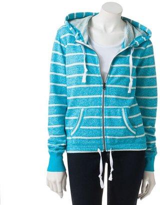 So® striped front-zip hoodie - juniors