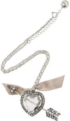Lanvin Swarovski crystal heart and arrow necklace