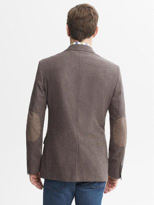 Banana Republic Tailored-Fit Brown Donegal Blazer