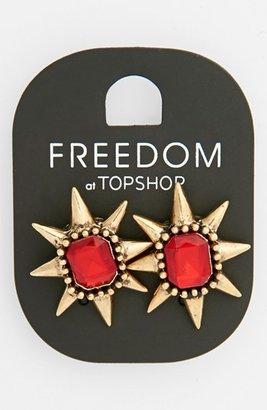 Topshop Spiked Stone Stud Earrings