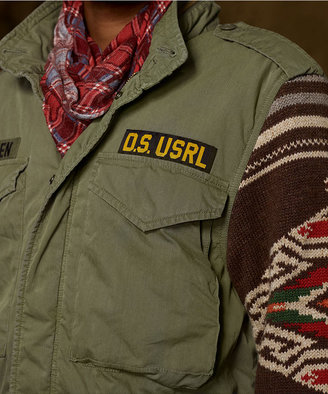 Denim & Supply Ralph Lauren Knit-Sleeve Army Field Jacket