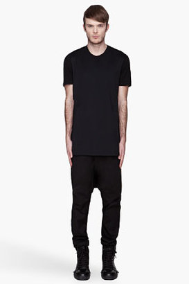 Givenchy Black long paneled open side t-shirt