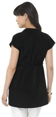 Liz Lange for Target Maternity Short Sleeve Pleated Neck Top for Target®