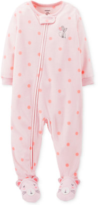 Carter's Baby Girls' Mouse Footed Coverall Pajamas