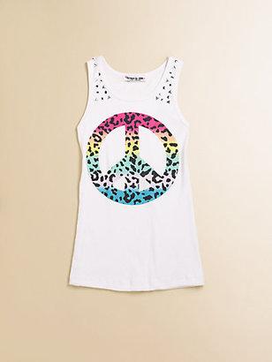 Flowers by Zoe Girl's Peace-Print Tank Top