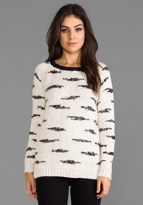 Maison Scotch Knitted Printed Pullover