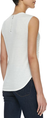 Rebecca Taylor Guipure Lace-Overlay Tank