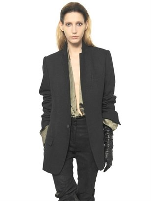 Haider Ackermann Wool Cotton Linen Blend Toile Jacket
