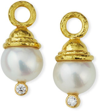 Elizabeth Locke Pearl & Diamond Earring Pendants