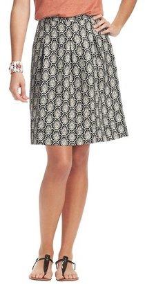 LOFT Petite Scalloped Paisley Print Summer Stroll Skirt