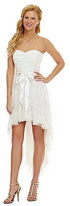 Teeze Me Strapless Hi-Low Dress