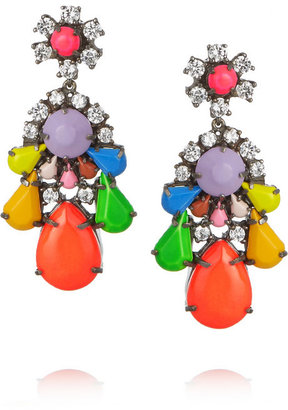 Shourouk Silver-plated Swarovski crystal earrings