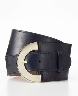 Ann Taylor Rounded Buckle Wide Belt