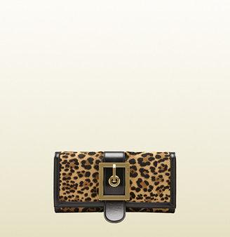 Gucci Lady Buckle Jaguar Print Clutch