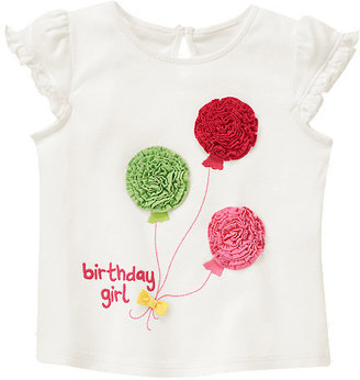 Gymboree Birthday Girl Balloon Tee
