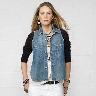Denim & Supply Ralph Lauren Chambray Sleeveless Shirt