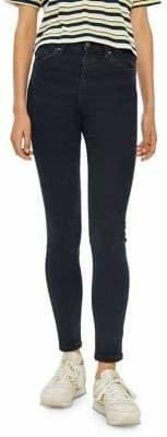 Topshop Blue Black Jamie 30-Inch Jeans