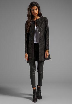 BB Dakota Rosette Jacquard Coat