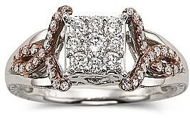 JCPenney Cherished HeartsTM 1/2 CT. T.W. Diamond Bridal Ring