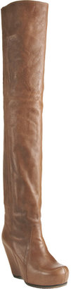 Rick Owens Paneled Wedge Over-the Knee Boot