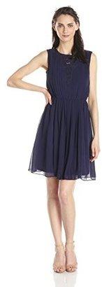 Jessica Simpson Women's Pleated Chiffon Dress