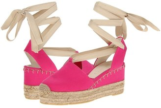 Ralph Lauren Uma (Hot Pink Canvas) - Footwear