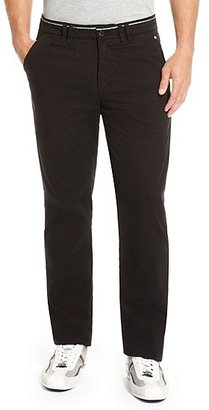 HUGO BOSS Lillon Regular Fit, Stretch-Cotton Casual Pant - Black