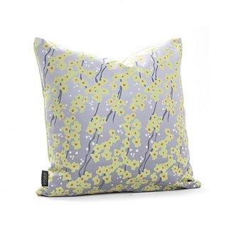 Inhabit Flowering Pyrus in Gray Pillow