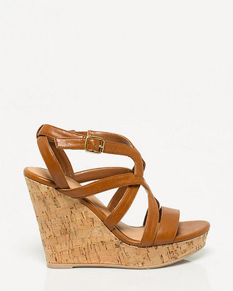 Le Château Faux Leather Cork Wedge
