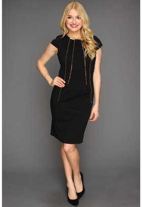 Calvin Klein Cap Sleeve Dress (Black) - Apparel